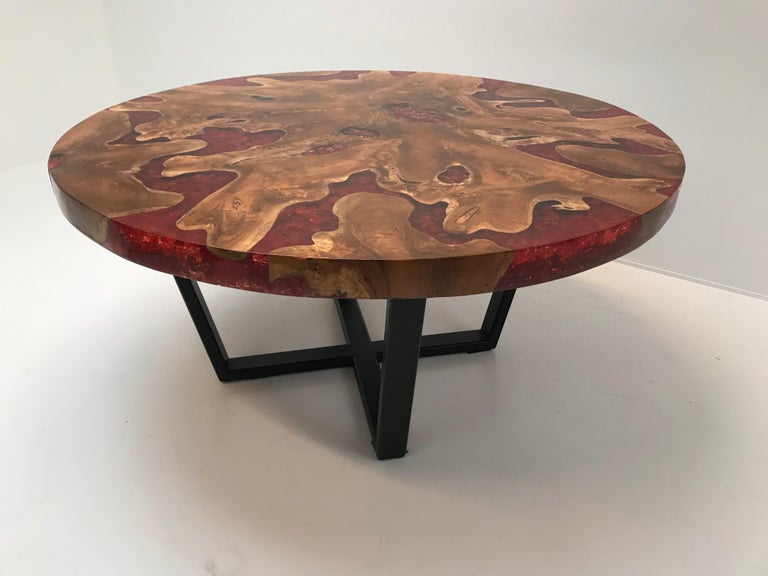 Round Table, Teak and Resin 5