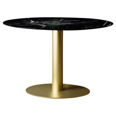 Round Table with Marquina Marble Top