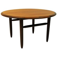 Round Vintage Teak coffee table by Aase Dreieri 1958 - Norway