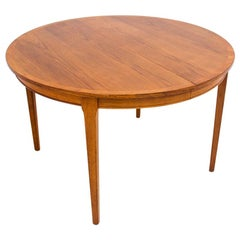 Round Teak Dining Table, Denmark, 1960s