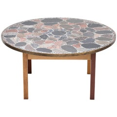 Round Terrazzo Coffee Table by Erling Viksjø