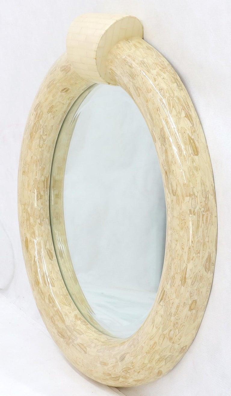 Unknown Round Tessellated Bone Mirror For Sale