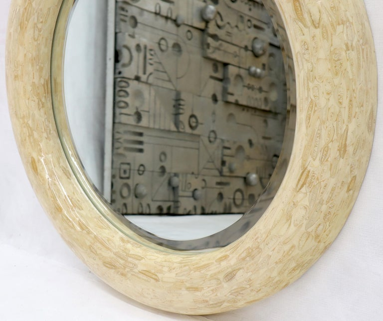 20th Century Round Tessellated Bone Mirror For Sale