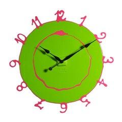 Round the Clock, Large in Matt Acid Green and Fuchsia by Gaetano Pesce