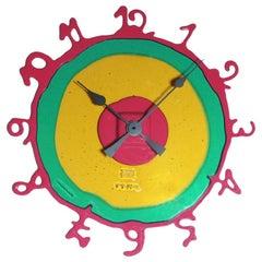 Round The Clock, XL in Clear Amber and Green, Matt Fuchsia by Gaetano Pesce