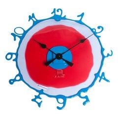 Round The Clock, XL in Dark Ruby, Lilac and Matt Light Blue by Gaetano Pesce
