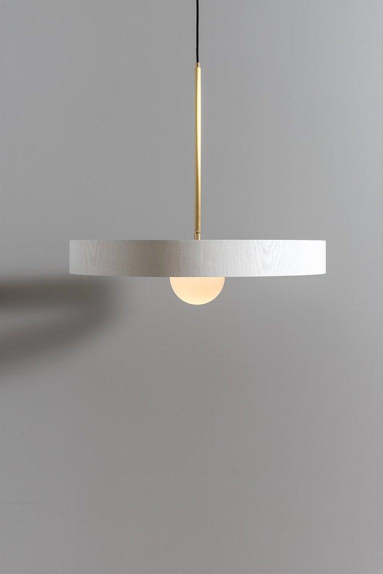 Israeli Round Thin Pendant by ASAF Weinbroom Studio For Sale