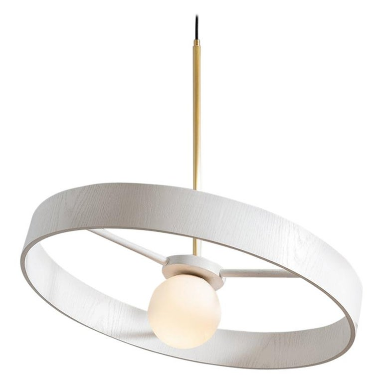 Round Thin Pendant by ASAF Weinbroom Studio For Sale