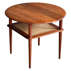 Round Tiered Teak End or Side Table by Peter Hvidt and Orla Molgaard Nielsen