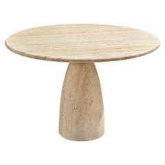 Round Travertine Dining Table