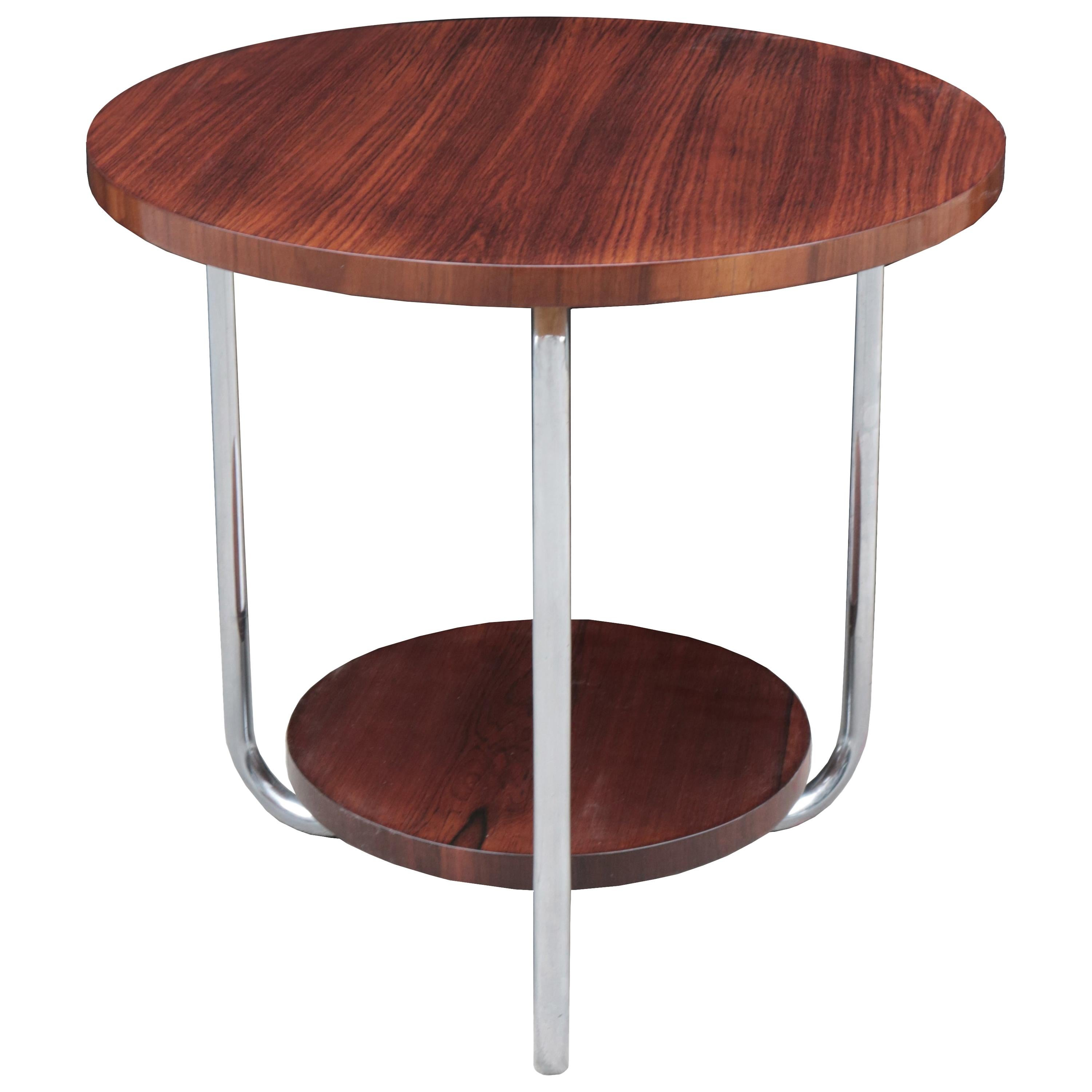 Round Two-Tier Side Table