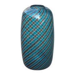 Round Venini Vase Murano Glass 1985 Multi-Color Italian Design