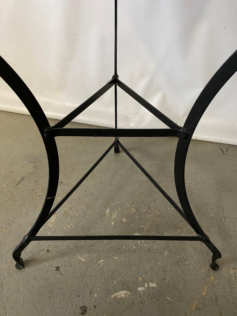 20th Century Round Vintage Metal Top Bistro Table For Sale