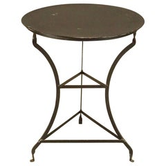 Round Vintage Metal Top Bistro Table
