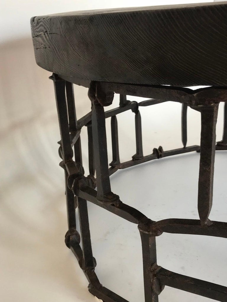 Round Vintage Railroad Spike Coffee Table For Sale At 1stdibs