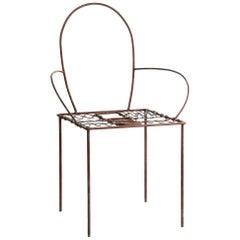 Round Viper Iron Chair by Sema Topaloglu