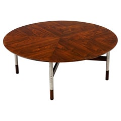 Round Rosewood Coffee Table by Jack Cartwright, in the Style of Finn Juhl