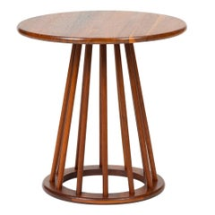 Round Walnut Side Table by Arthur Umanoff for Washington Woodcraft