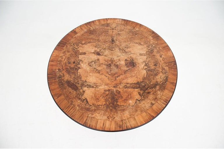 Early 20th Century Round Walnut Table from Around 1920 For Sale