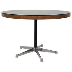 Round Wenge Coffee / Conference Table, the Netherlands, 1950s