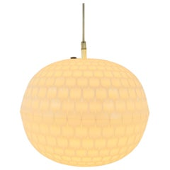 Round White Bowl Shade Lamp by Aloys Gangkofner for Erco, 1970s, Germany