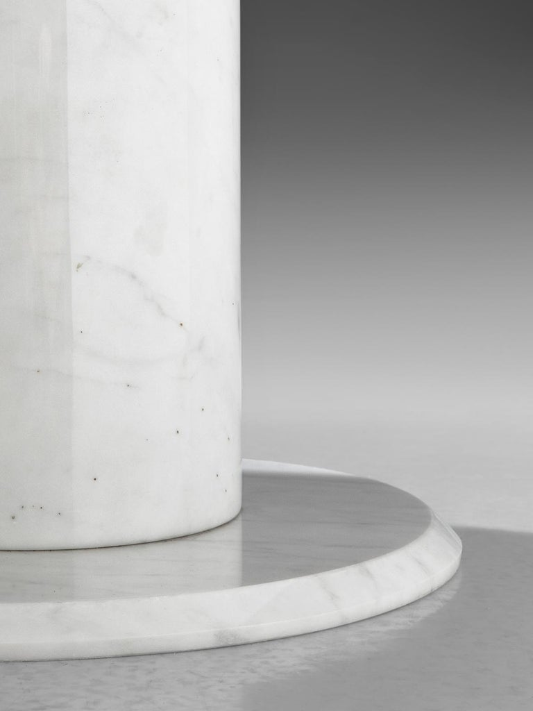 Round White Marble Centre Table For Sale At 1stdibs