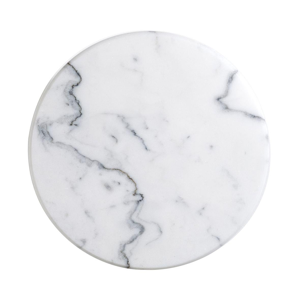 Round White Marble Wall Light