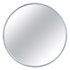 Round White Oak Ring Mirror by Nicholas Hamilton Holmes