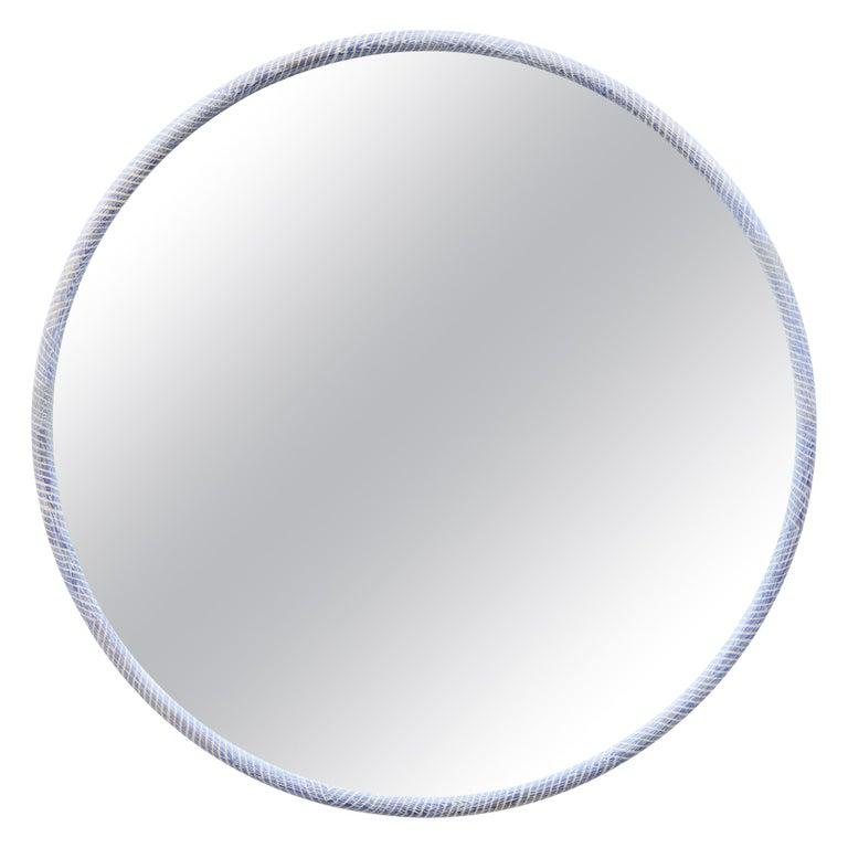 Round White Oak Ring Mirror by Nicholas Hamilton Holmes For Sale