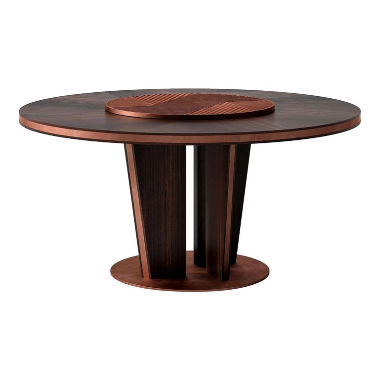 Round Wood Dining Table For Sale