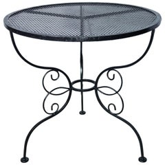 Round Woodard Wrought Iron Garden Table