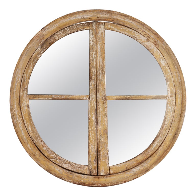 Round Wooden Frame Mirrors, France, 1700 For Sale