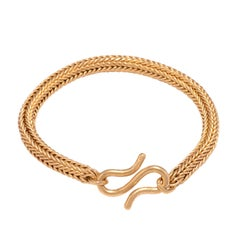 Round Woven 22 Karat Gold Bracelet