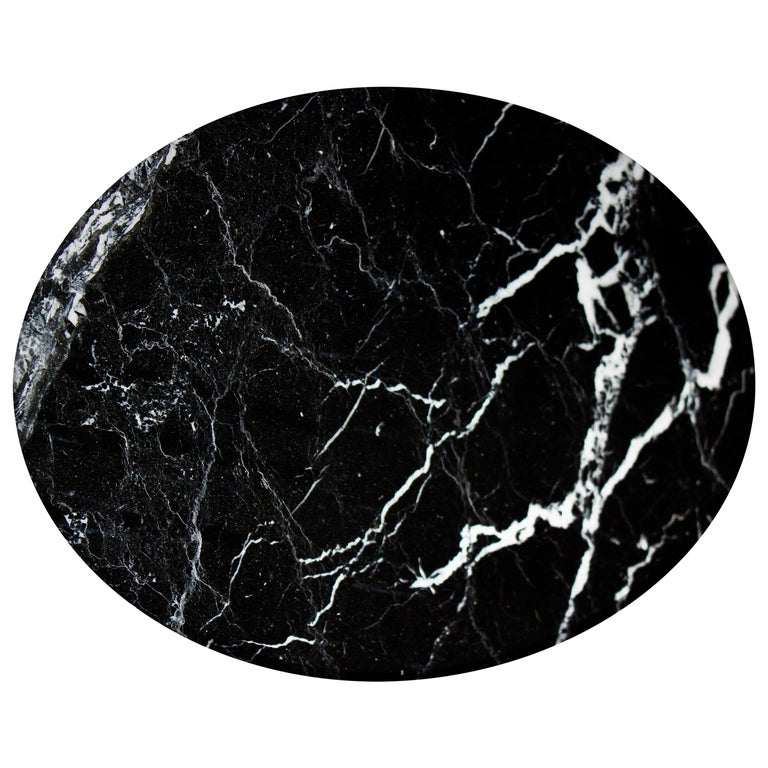 Italian Rounded Dark Green Marble Cheese Plate For Sale