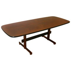 Rounded Edge Brazilian Rosewood Dining Table