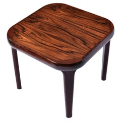 Rounded Edge Square Danish Modern Rosewood End Table
