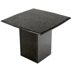 Rounded Square Granite Side End Stand Table Modern Design