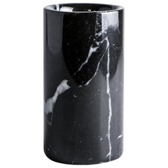 Rounded Toothbrush Holder in Black Marquina Marble