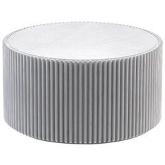 Rounding Wood Coffee Table with Gray Lacquer Finish by Debra Folz