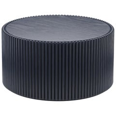 Rounding Wood Coffee Table with Navy Lacquer Finish by Debra Folz