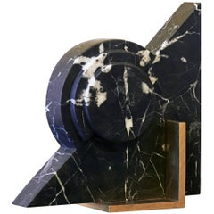 Roussy Bookend in Black Marble