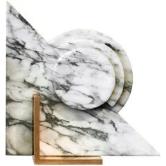 Roussy Bookend in White Marble