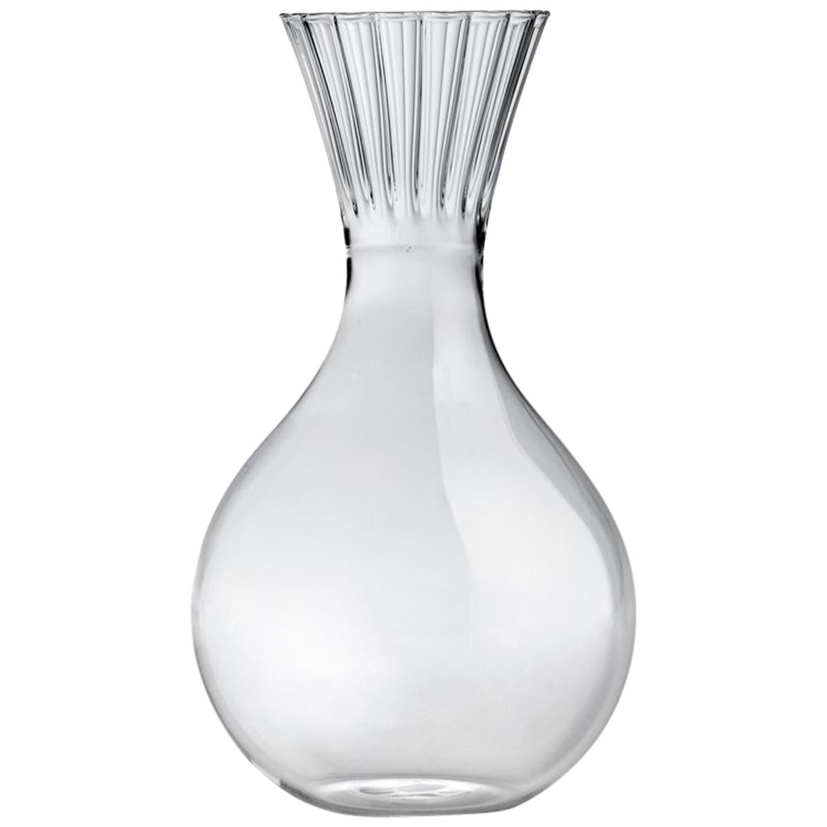 Routine High Carafe in Mouth Blown Glass Designed by Matteo Cibic