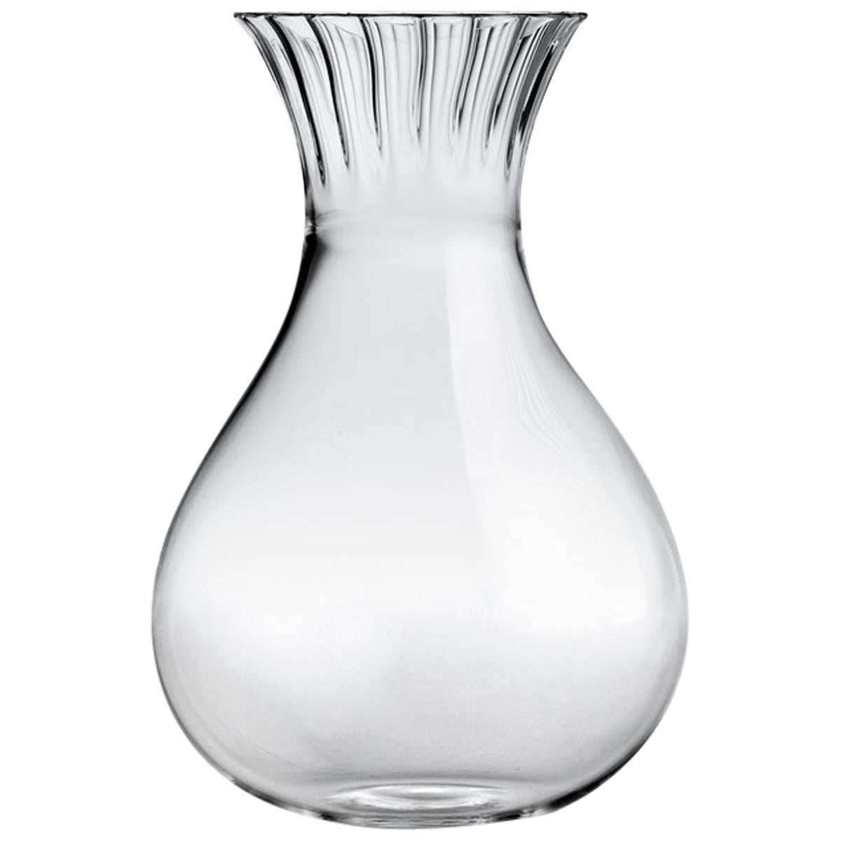 Routine Low Carafe in Mouth Blown Glass Designed by Matteo Cibic