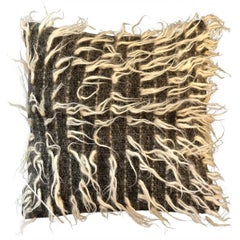 """""""Rovigo"""" Brown and White Wool Pillow by Le Lampade"""