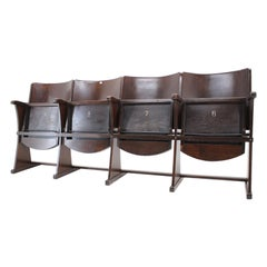 Row of Cinema Chairs / Bench by Thonet, 1940s, 'Renovated'