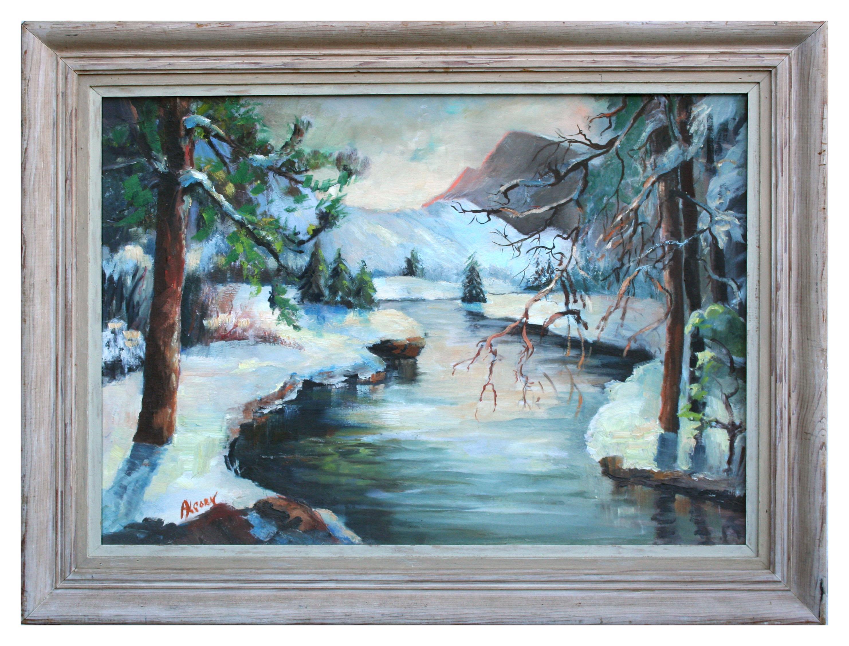 Mid Century Yosemite Winter Landscape
