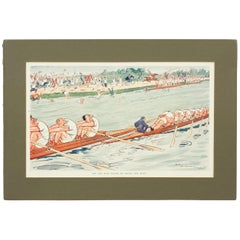 Rowing Print, The Cox Who Failed To Notice The Bump, H M Bateman