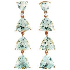 Roxa 18 Karat Rose Gold 0.11 Carat Diamond and Amethyst Drop Earrings
