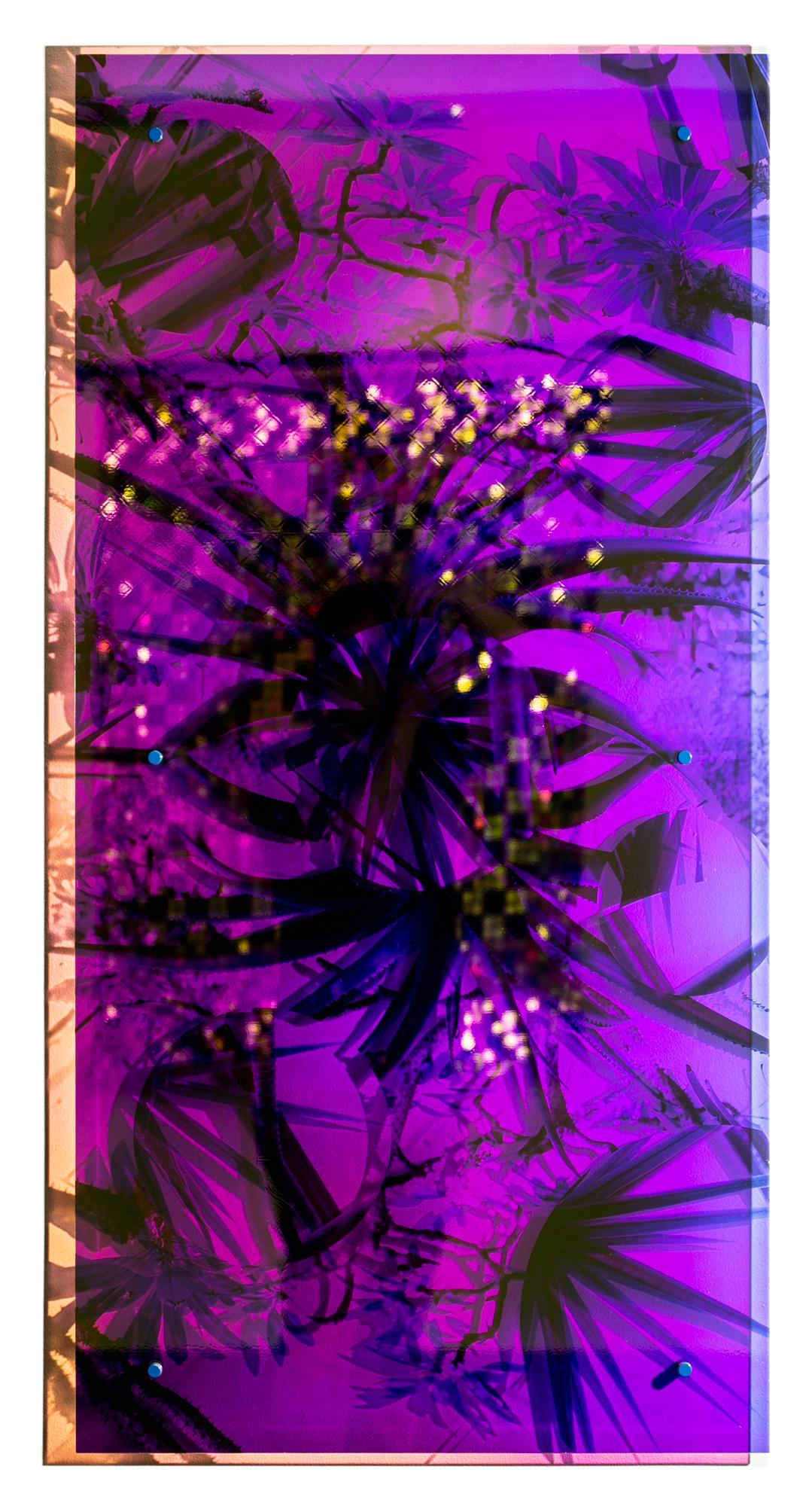 """""""Tree Aloe"""", Holographic, Mirrored, Reflective, Wall-Hanging Colorful Sculpture"""